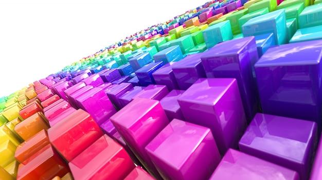 Fundo com blocos coloridos