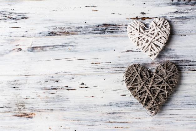 Fundo com corações, dia dos namorados. dia dos namorados. ame. corações de vime. romântico.