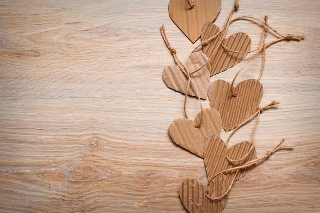 Fundo com corações para dia dos namorados