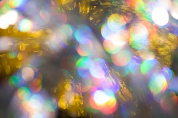 Fundo com efeito bokeh grande de arco-íris multicolorido