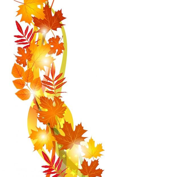 Fundo com folhas de outono