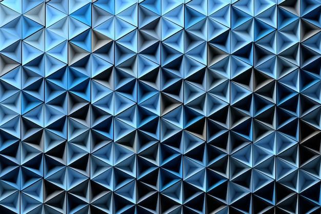 Fundo com formas geométricas azuis aleatoriamente