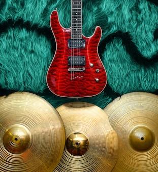 Fundo com instrumentos musicais
