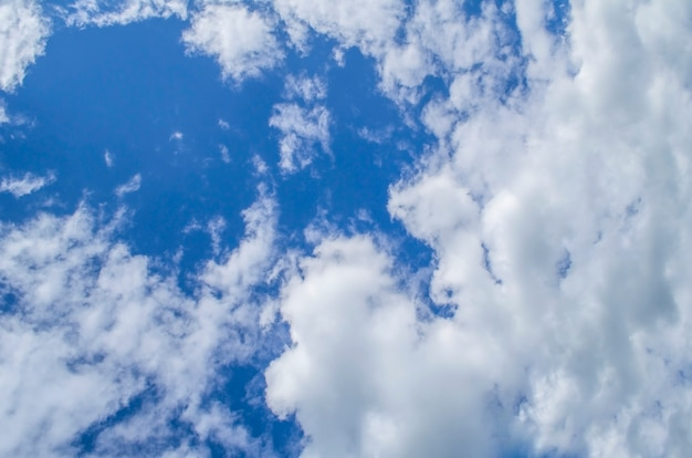 Fundo com nuvens minúsculas. o vasto céu azul