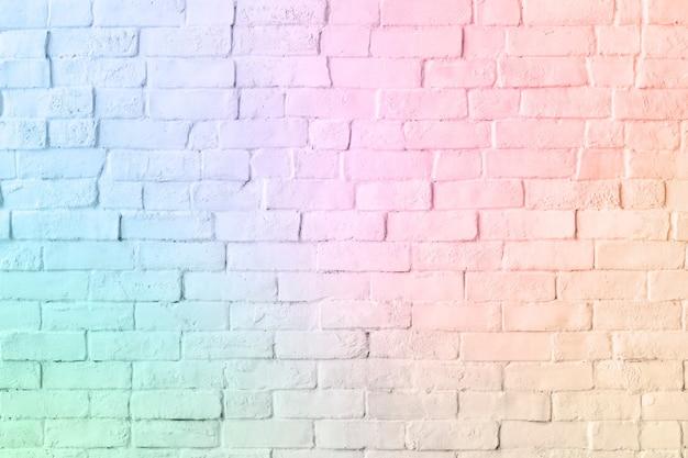 Fundo com padrão de parede de tijolo em cor de unicórnio