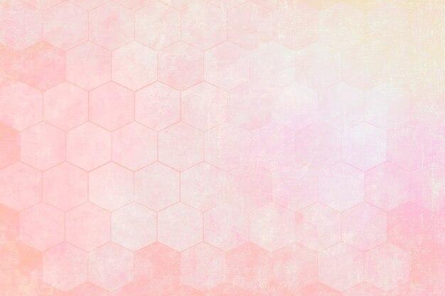 Fundo com padrão hexágono rosa