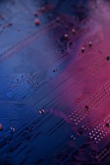 Fundo com placa-mãe do computador, placa de circuito