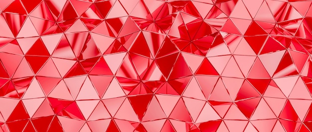 Fundo com polígonos triangulares na cor vermelha.