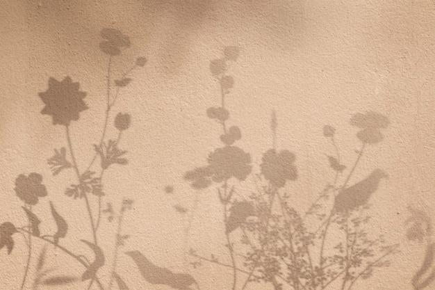 Fundo com sombra de campo floral