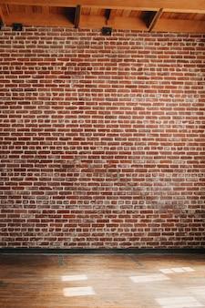 Fundo com textura de parede de tijolo vermelho grunge