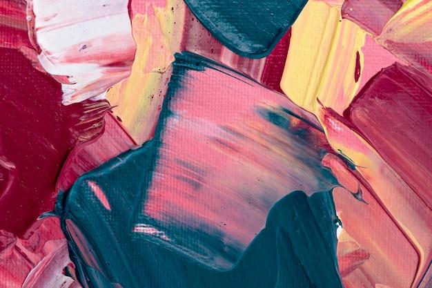 Fundo com textura de tinta acrílica em estilo abstrato rosa arte criativa