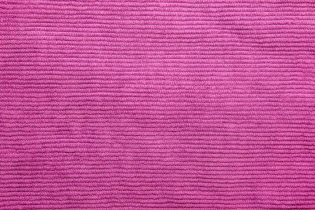 Fundo com textura de veludo cotelê azul fúcsia nervurada