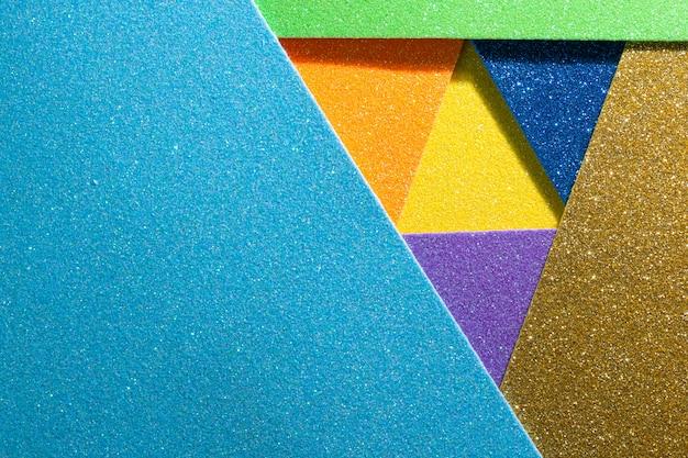 Fundo cor papel colocando ângulos