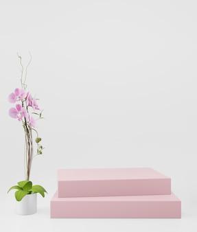Fundo cosmético para apresentação do produto.