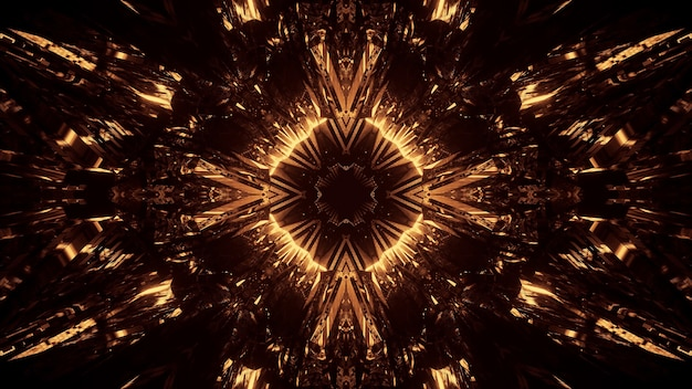 Fundo cósmico com luzes de laser neon douradas - perfeito para um fundo digital