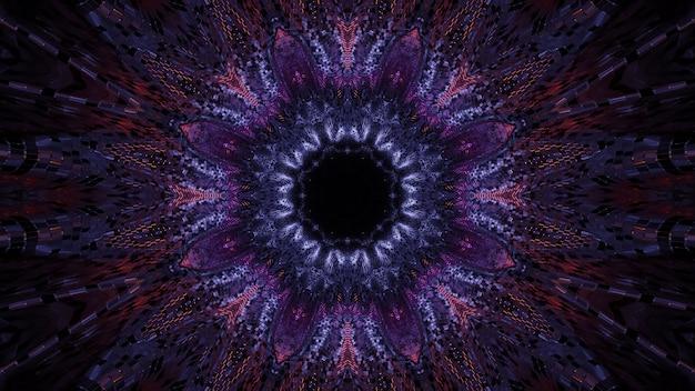 Fundo cósmico com luzes laser coloridas em formas bonitas - perfeito para um papel de parede digital