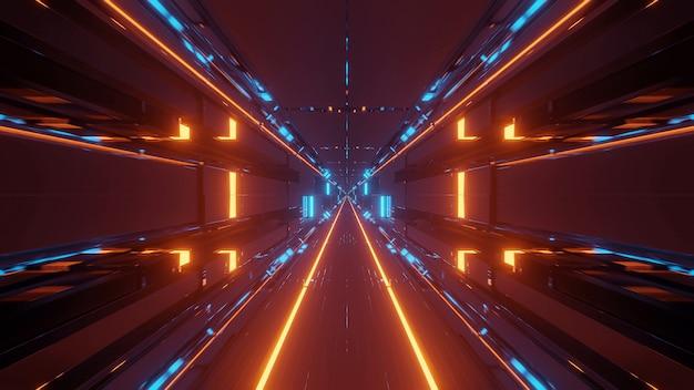 Fundo cósmico com luzes laser coloridas