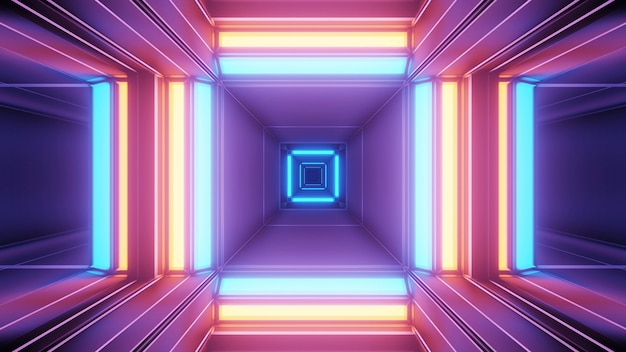 Fundo cósmico com luzes laser geométricas coloridas - perfeito para um papel de parede digital
