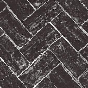 Fundo criativo abstrato do padrão de piso de tijolo.