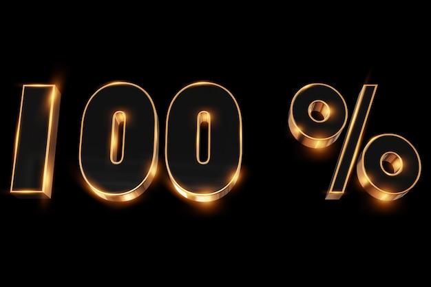 Fundo criativo, venda de inverno, 100 por cento, desconto, números de ouro 3d.
