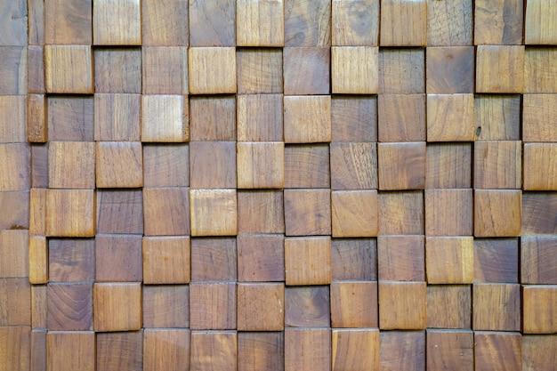 Fundo cúbico da parede de madeira.