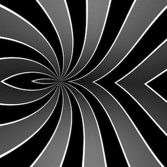 Fundo curvo de linhas cinzas. listras geométricas torcidas flexíveis, dobras retas volumosas. listras cromadas cinza com largura variável. fundo criativo abstrato moderno