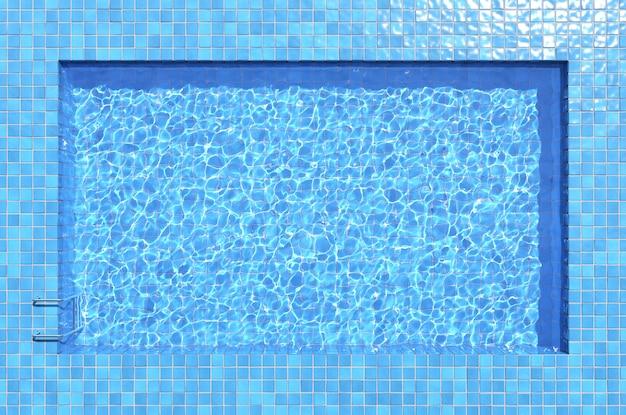 Fundo da água da piscina. vista superior, ilustração 3d