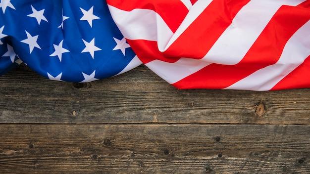 Fundo da bandeira americana com copyspace