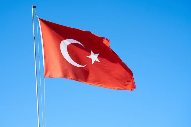 Fundo da bandeira da turquia