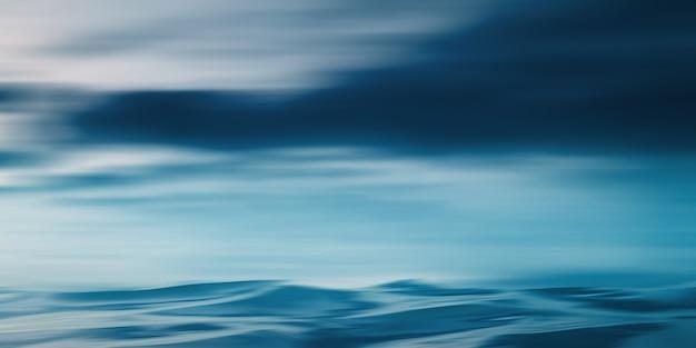 Fundo da cena vazia céu escuro, reflexo da lua na água