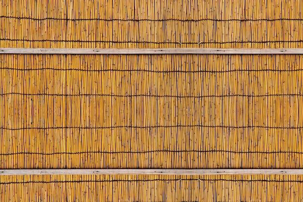 Fundo da cerca de bammboo, divisória de bambu japonesa da sala ou parte dos móveis e cestaria.