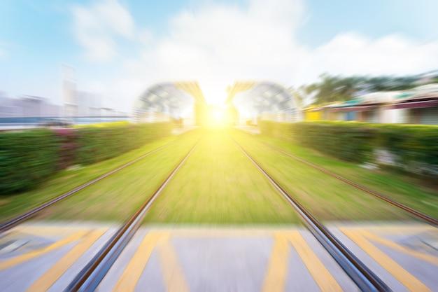 Fundo da estrada de ferro