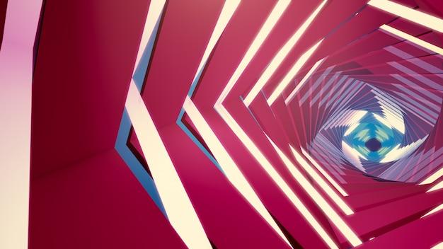 Fundo da ilustração 3d para anunciar e papel de parede na cena gatsby e do art deco.