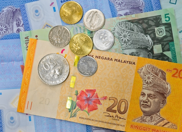 Fundo da moeda da malásia
