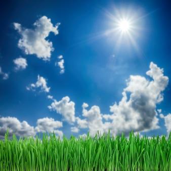 Fundo da natureza. nuvens brancas sobre céu azul