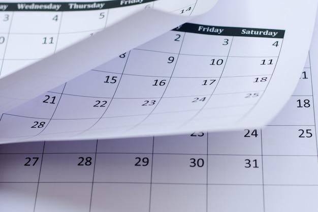 Fundo da página do calendário