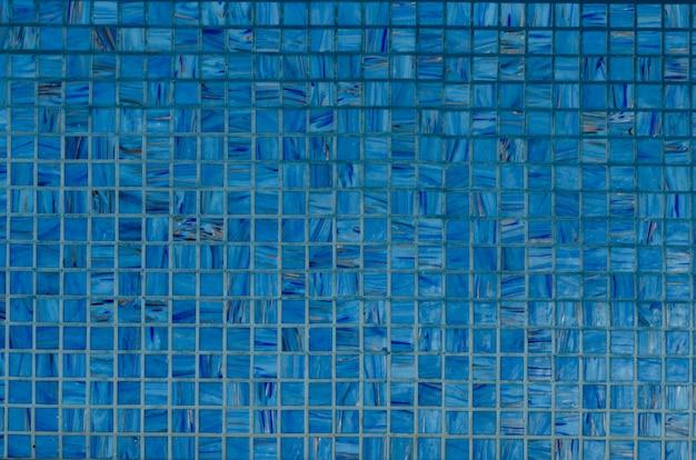 Fundo da parede de mosaico na cor azul