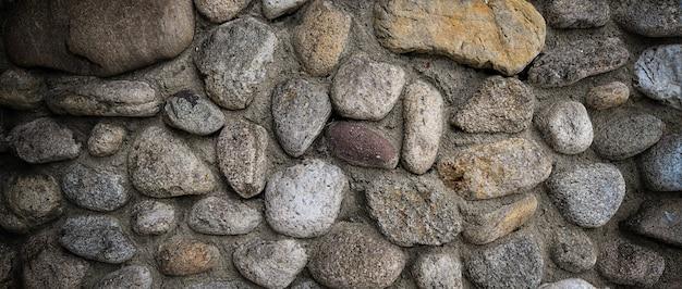 Fundo da parede de pedra redondo banner cinza. foto de alta qualidade