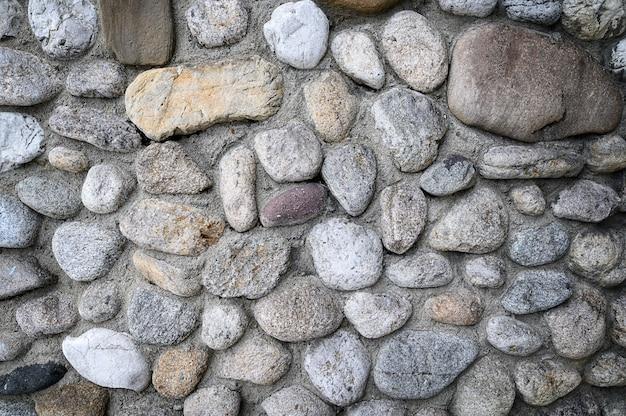 Fundo da parede de pedra redondo cinza. foto de alta qualidade