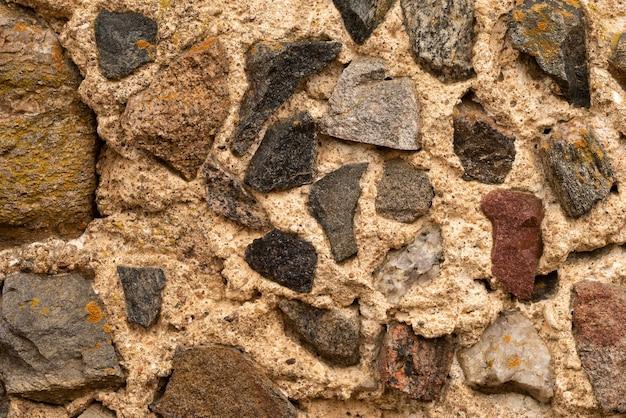 Fundo da parede de pedra rochosa. padrão de rock vintage.