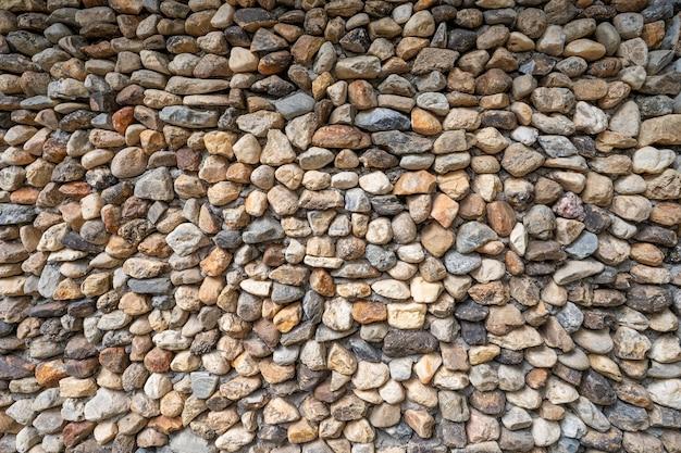 Fundo da parede de pedras.