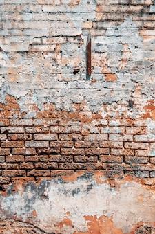 Fundo da parede de tijolo antigo