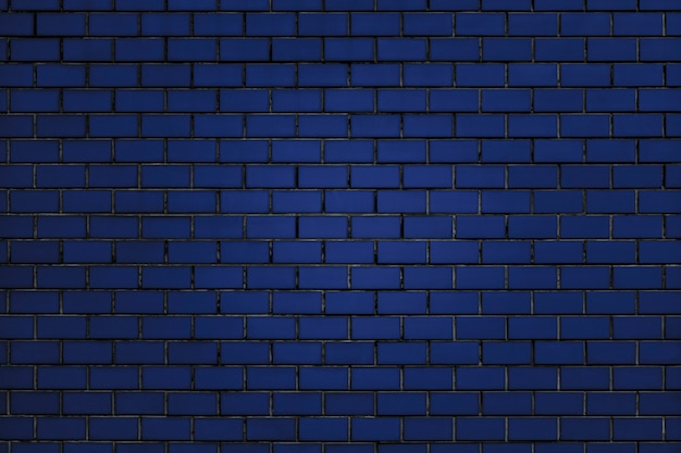 Fundo da parede de tijolo azul