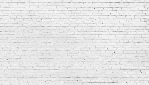 Fundo da parede de tijolo branco, textura de alvenaria branqueada