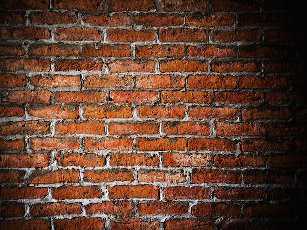 Fundo da parede de tijolo com espaço para texto