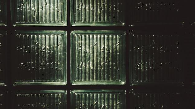 Fundo da parede de tijolo de vidro