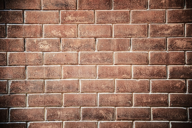 Fundo da parede de tijolo marrom