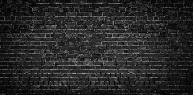 Fundo da parede de tijolo preto
