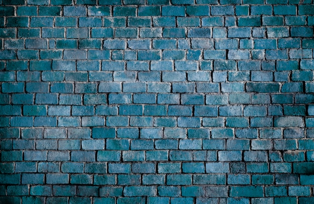 Fundo da parede de tijolo texturizado azul