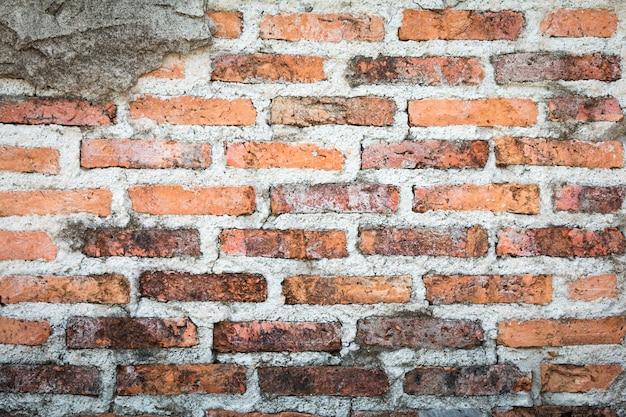Fundo da parede de tijolo vermelho e textura